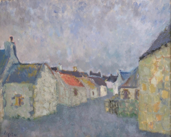 'Audierne - at Dusk, Brittany.'