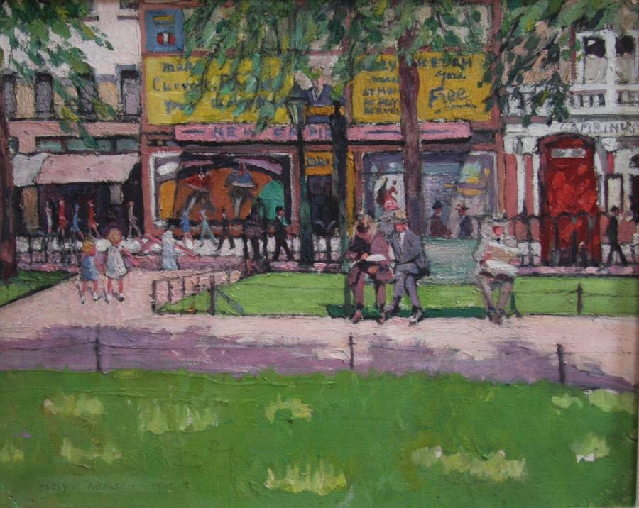 Evelyn Abelson, RBA, 'Leicester Square, London' 1932