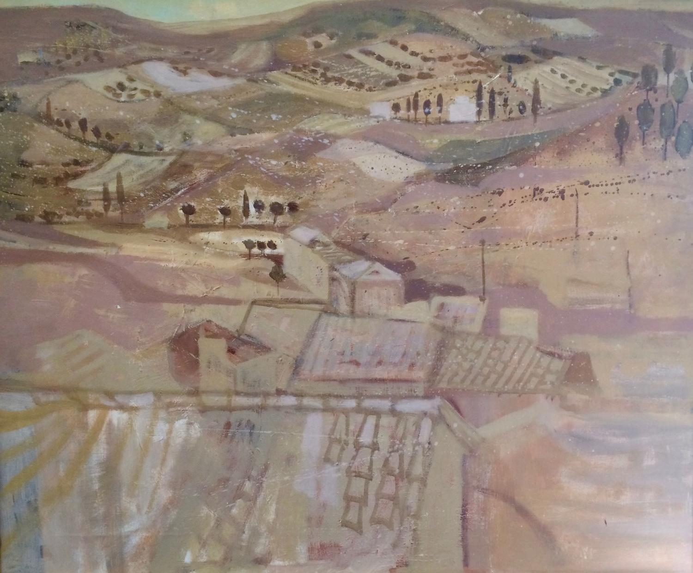 Richard Beer, Oil painting Urbino, Italy